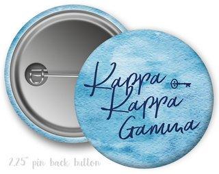 Kappa Kappa Gamma Watercolor Script Button