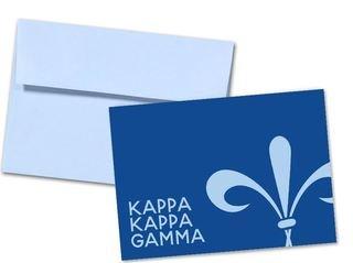 Kappa Kappa Gamma Watercolor Script Notecards(6)
