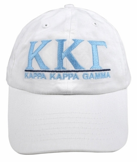 Kappa Kappa Gamma World Famous Line Hat - MADE FAST!
