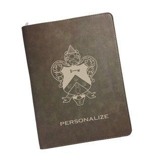 Kappa Kappa Gamma Zipper Leatherette Portfolio with Notepad