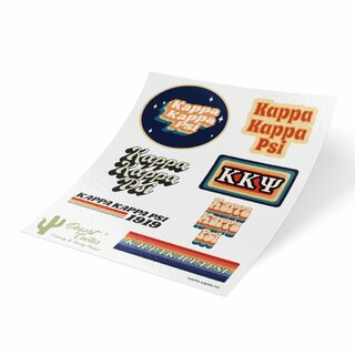 Kappa Kappa Psi 70's Sticker Sheet