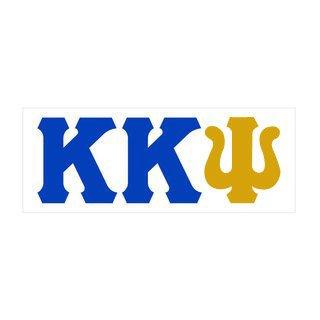 Kappa Kappa Psi Big Greek Letter Window Sticker Decal