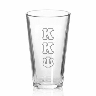 Kappa Kappa Psi Big Letter Mixing Glass