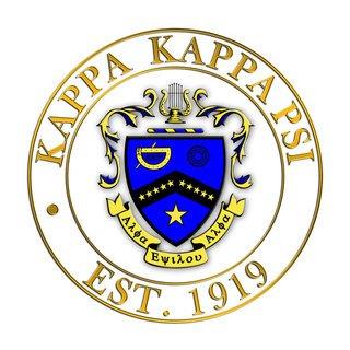 Kappa Kappa Psi Circle Crest - Shield Decal