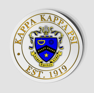 Kappa Kappa Psi Circle Crest - Shield Decal