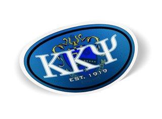 Kappa Kappa Psi Color Oval Decal