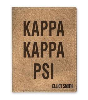 Kappa Kappa Psi Cork Portfolio with Notepad