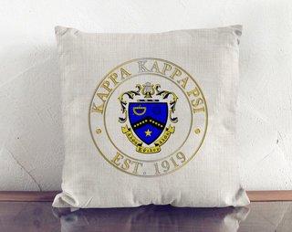 Kappa Kappa Psi Crest Linen Pillow