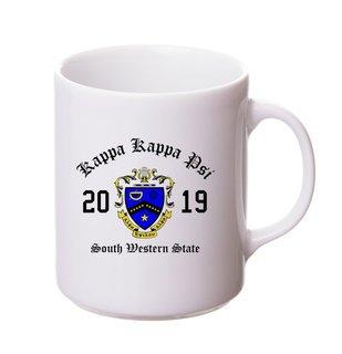Kappa Kappa Psi Crest & Year Ceramic Mug
