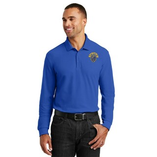 DISCOUNT-Kappa Kappa Psi Emblem Long Sleeve Polo