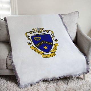 Kappa Kappa Psi Full Color Crest Afghan Blanket Throw