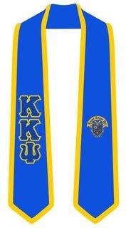 Kappa Kappa Psi Greek 2 Tone Lettered Graduation Sash Stole