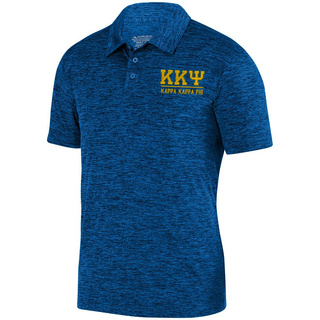 Kappa Kappa Psi Greek Letter Intensify Heather Sport Polo