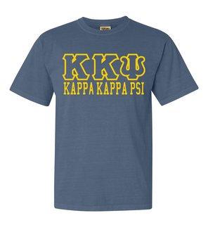 Kappa Kappa Psi Greek Outline Comfort Colors Heavyweight T-Shirt
