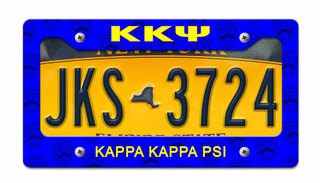 Kappa Kappa Psi License Plate Frame