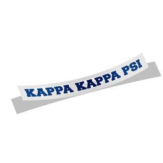 Kappa Kappa Psi Long Window Sticker