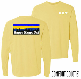 Kappa Kappa Psi Outdoor Long Sleeve T-shirt - Comfort Colors