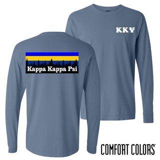 Kappa Kappa Psi Outdoor Long Sleeve T-shirt - Comfort Colors