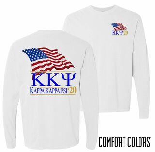 Kappa Kappa Psi Patriot Long Sleeve T-shirt - Comfort Colors