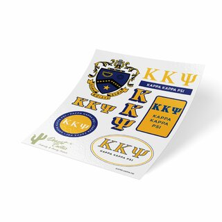 Kappa Kappa Psi Traditional Sticker Sheet