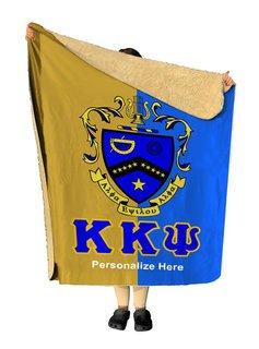 Kappa Kappa Psi Two Tone Sherpa Lap Blanket