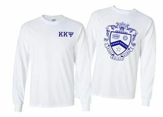 Kappa Kappa Psi World Famous Crest - Shield Long Sleeve T-Shirt- $19.95!