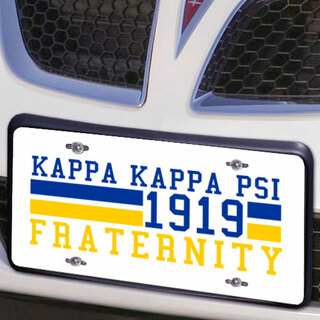 Kappa Kappa Psi Year License Plate Cover