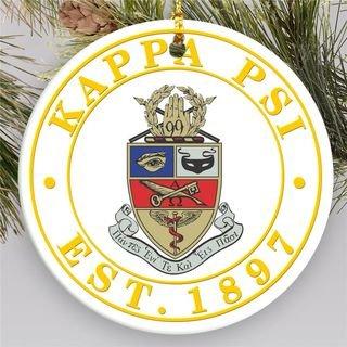 Kappa Psi Circle Crest Round Ornaments