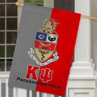 Kappa Psi Crest House Flag