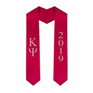 Kappa Psi Greek Lettered Graduation Sash Stole With Year - Best Value