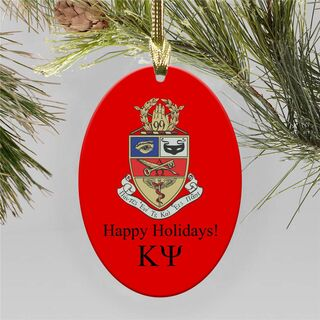 Kappa Psi Holiday Color Crest - Shield Ornament
