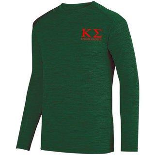 Kappa Sigma- $26.95 World Famous Dry Fit Tonal Long Sleeve Tee