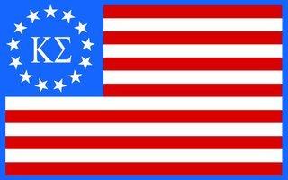 Kappa Sigma American Flag Sticker