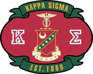 Kappa Sigma Banner Crest - Shield Decal