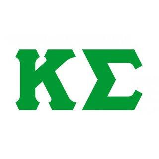 Kappa Sigma Big Greek Letter Window Sticker Decal