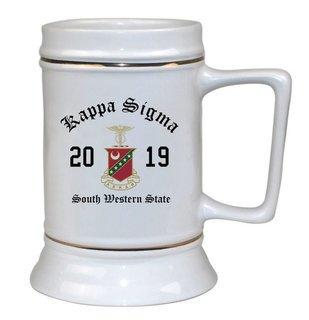Kappa Sigma Ceramic Crest & Year Ceramic Stein Tankard - 28 ozs!