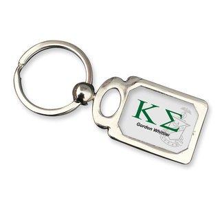Kappa Sigma Chrome Crest Key Chain