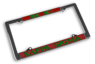 Kappa Sigma Chrome License Plate Frames