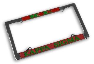 Kappa Sigma Chrome License Plate Frames