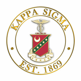 Kappa Sigma Circle Crest - Shield Decal
