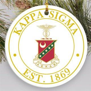 Kappa Sigma Circle Crest Round Ornaments