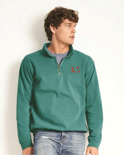Kappa Sigma Comfort Colors Garment-Dyed Quarter Zip Sweatshirt