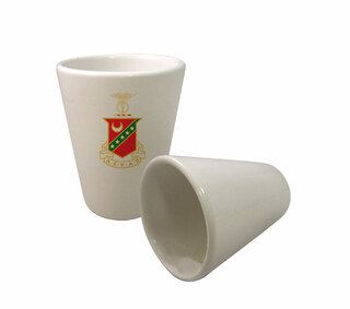 Kappa Sigma Crest Ceramic Collectors Glass
