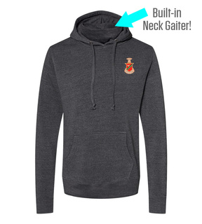 Kappa Sigma Crest Gaiter Fleece Hooded Sweatshirt