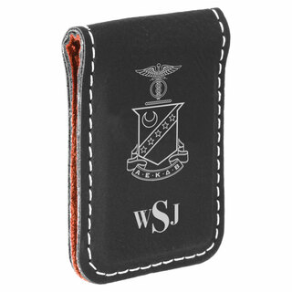 Kappa Sigma Crest Leatherette Money Clip