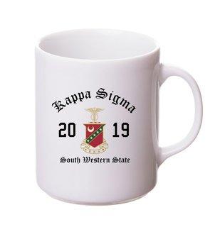 Kappa Sigma Crest & Year Ceramic Mug