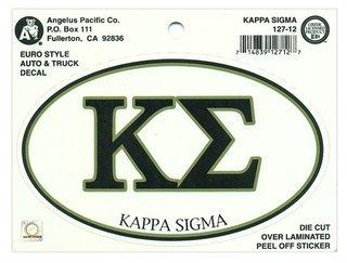 Kappa Sigma Euro Decal Oval Sticker