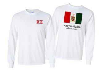 Kappa Sigma Flag Long Sleeve T-shirt
