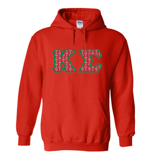 Kappa Sigma Fraternity Crest - Shield Twill Letter Hooded Sweatshirt