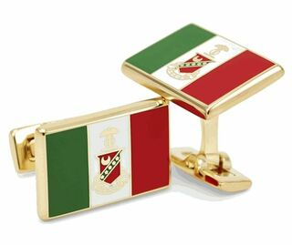 Kappa Sigma Gold Plated Flag Cufflinks